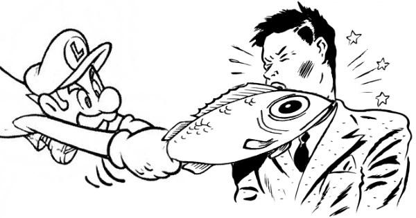 pesce in faccia